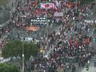 Manifestantes protestam contra governo e prefeitura no Centro do Rio