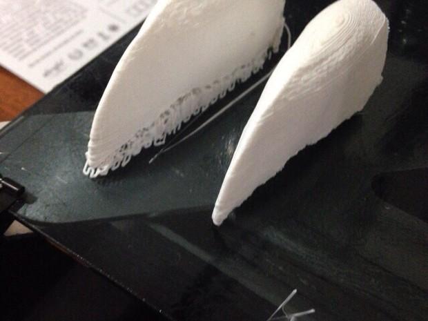 Prótese 3D foi impressa em Santos (Foto: Paulo Miamoto / Arquivo Pessoal)