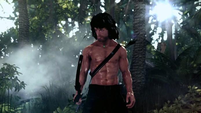 Rambo não tem piedade nem para nos poupar de um jogo tão ruim (Foto: GameSpot)