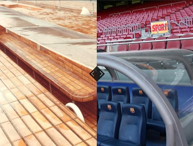 O antes e depois no aniversário do Barcelona