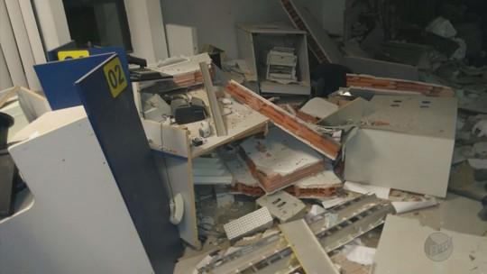 Quadrilha explode cofre de agência bancária em Nova Resende, MG