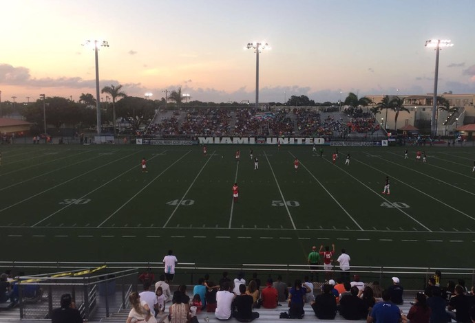 Estádio Adriano Miami United x Miami Fusion (Foto: Felipe Bruno/GloboEsporte.com)