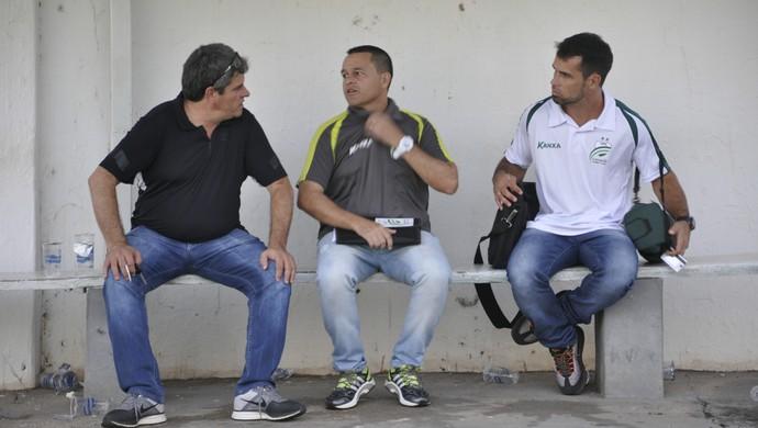 Helmute Lawisch, Leandro Niehues e Maico Gaúcho do Luverdense (Foto: Robson Boamorte)