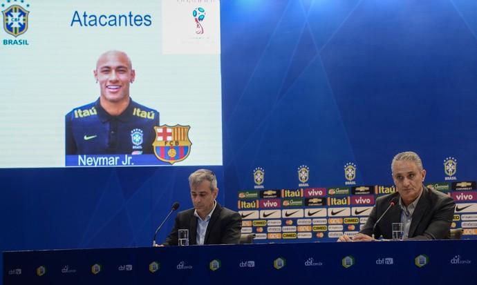 Tite Neymar convocação seleção brasileira Brasil (Foto: Mowa Press)