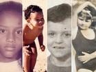Dia das crianças: famosos relembram a infância em fotos na web