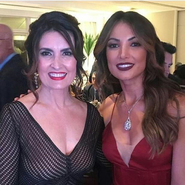 Fatima Bernardes e Patricia Poeta foram algumas das convidadas famosas presentes no enlace (Foto: Reprodução/Instagram)
