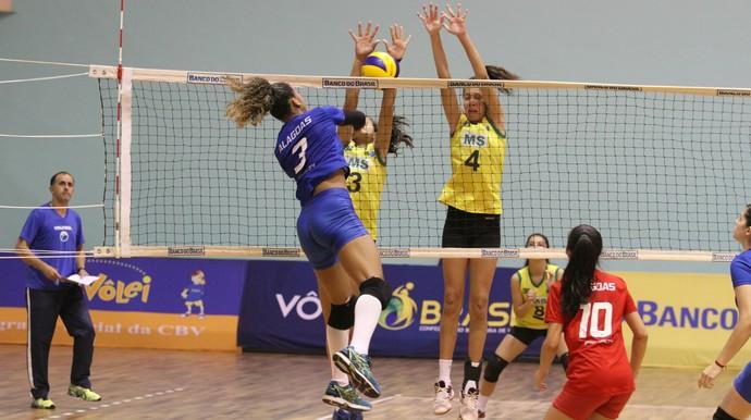 Seleção de MS vence Alagoas no brasileiro sub-17 de vôlei (Foto: Divulgação/Fundesporte)