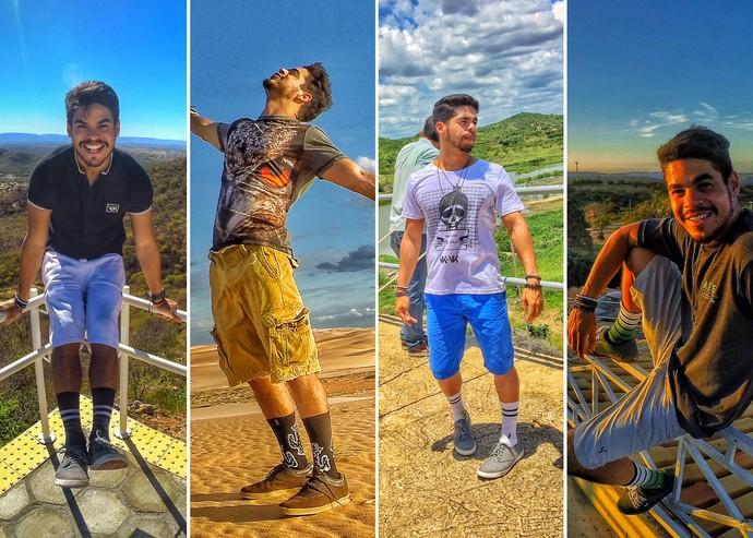 As meias usadas pelo Leo Souza fazem sucesso no 'Rota Inter TV' (Foto: Divulgação)