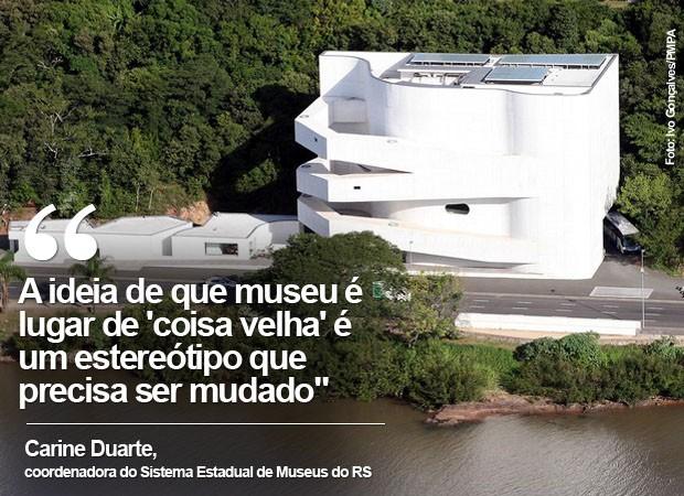 Fundação Iberê Camargo, na beira do Guaíba, em Porto Alegre (Foto: Ivo Gonçalves/PMPA)