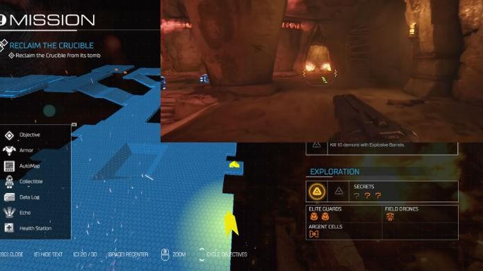 Doom: veja a localização exata da décima primeira alavanca de mapa clássico (Foto: Reprodução/Thomas Schulze)