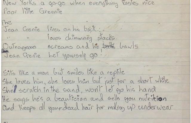 Rascunha da canção de 1972 (Foto: Foto: Reprodução)