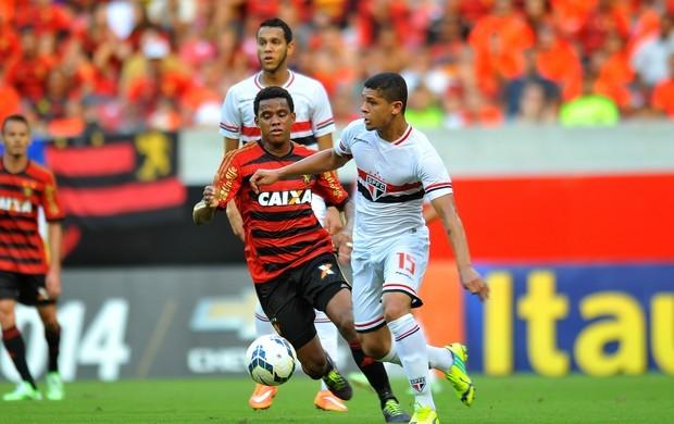 Sport e São Paulo (Foto: (Foto: Aldo Carneiro / Pernambuco Press))