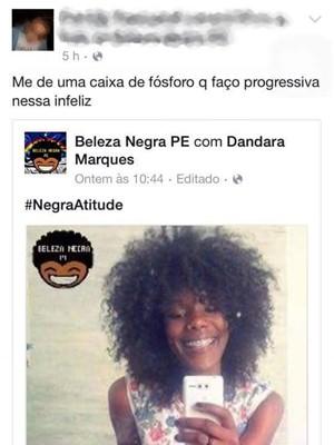 Jovem pernambucana foi vítima de racismo nas redes sociais (Foto: Reprodução/ Facebook)