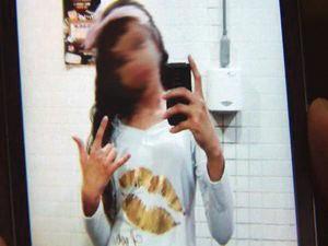 Foto de garota foram enviadas de celular roubado (Foto: Reprodução/TV Tribuna)