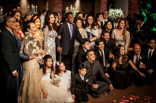 O casamento de Pelé e Márcia Aoki (Foto: Tatiana Aguena/ Divulgação)