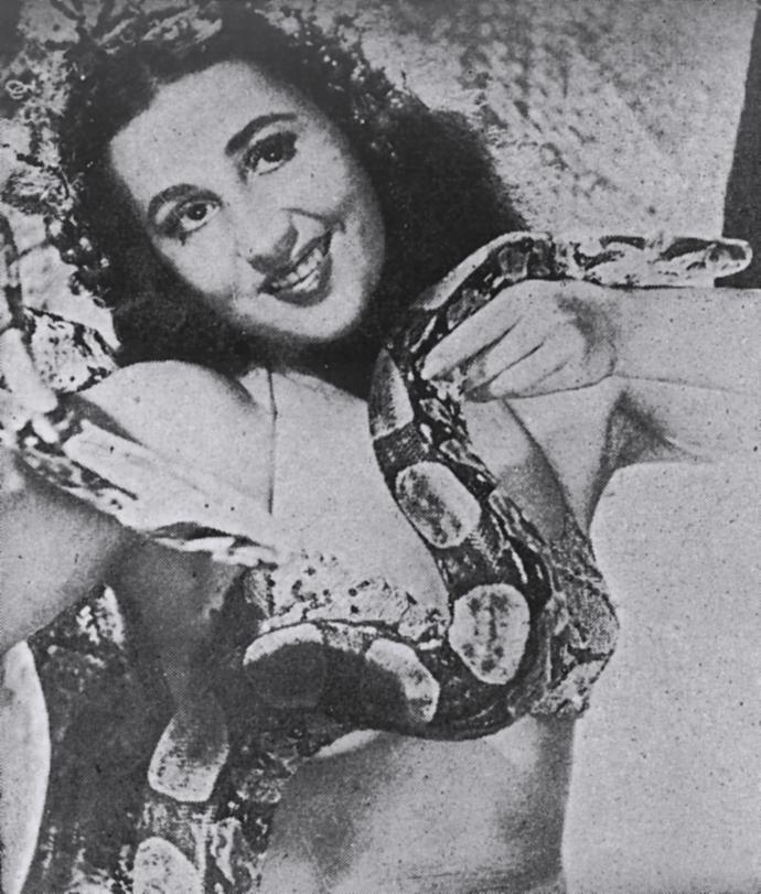 Dora Vivacqua, conhecida como Luz Del Fuego, foi precursora do naturismo no Brasil (Foto: Arquivo Pessoal)