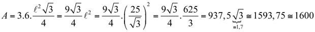 Fórmula para encontrar área (Foto: Reprodução/Fuvest)