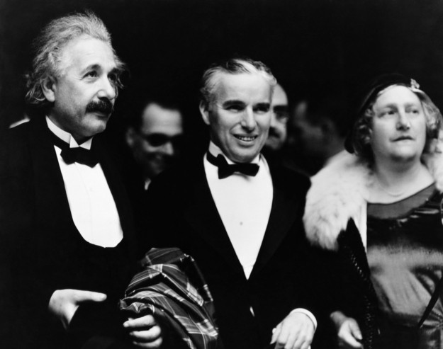 Albert Einstein and Charlie Chaplin (Foto: .)