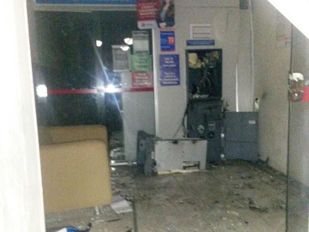 Em Juarez Távora o alvo foi um caixa eletrônico de um posto de atendimento na madrugada desta sexta-feira (29) (Foto: Paulo Freire de Melo/Arquivo Pessoal)