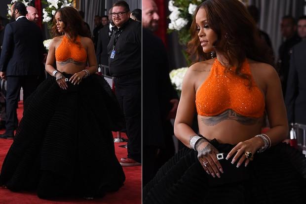 Rihanna no Grammy (Foto: Reuters agência)