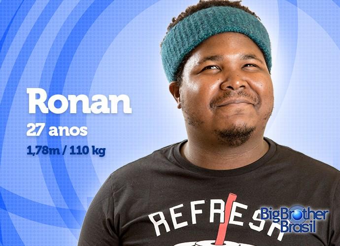 Com 110 kg, Ronan vai perder peso sim ou não? (Foto: Daniel Chevraud/Gshow)