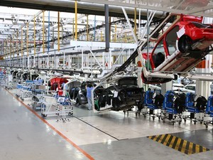carros montadora produção automotiva indústria (Foto:  Divulgação/Volkswagen)