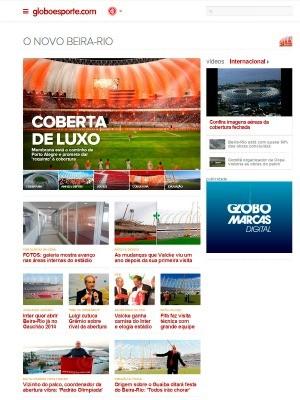 Site O Novo Beira-Rio do globoesporte.com RS (Foto: Reprodução)