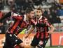 Francês entra após 17 meses, marca duas vezes e garante virada do Nice