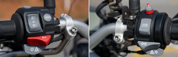 Detalhes dos punhos da F 800 GS (Foto: Flavio Moraes/G1)