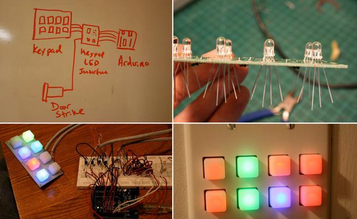 Fechadura eletrônica desenvolvida com Arduino (Foto: Reprodução/Hackaday)