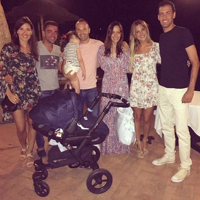 BLOG: Até fora de campo: Xavi, Iniesta e Busquets aproveitam férias juntos