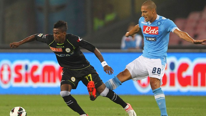 Maicosuel Udinese e Gokhan Inler  (Foto: Getty Images)