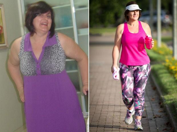 A professora universitária Laura Peixoto Chaves mudou de estilo aos 50 anos e emagreceu 25 kg (Foto: Arquivo pessoal/Laura Chaves/Giselle Seibel)