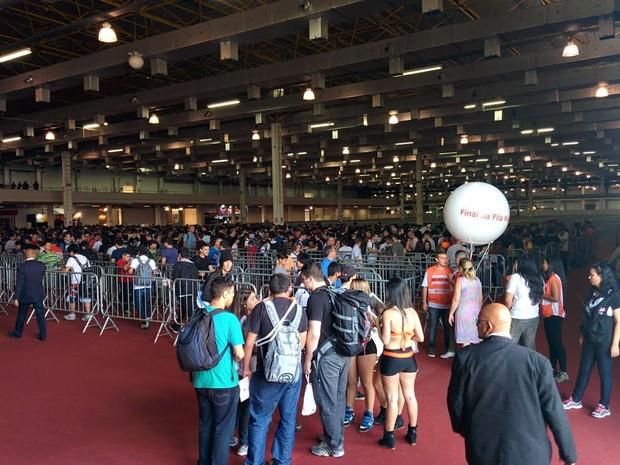 Brasil Game Show tem pavilhão apenas para filas, no Expo Center Norte, em São Paulo (Foto: Bruno Araujo/G1)
