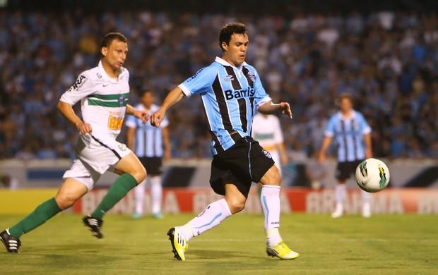 Kleber em Grêmio e Coritiba (Foto: Lucas Uebel/Divulgação, Grêmio)