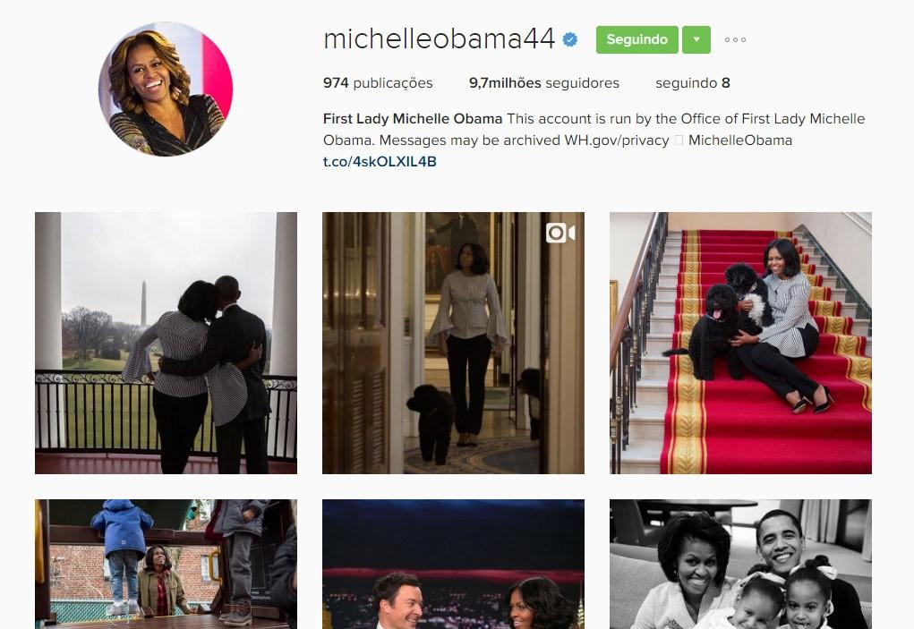 Michelle Obama: agora 44 (Foto: Reprodução/Instagram)