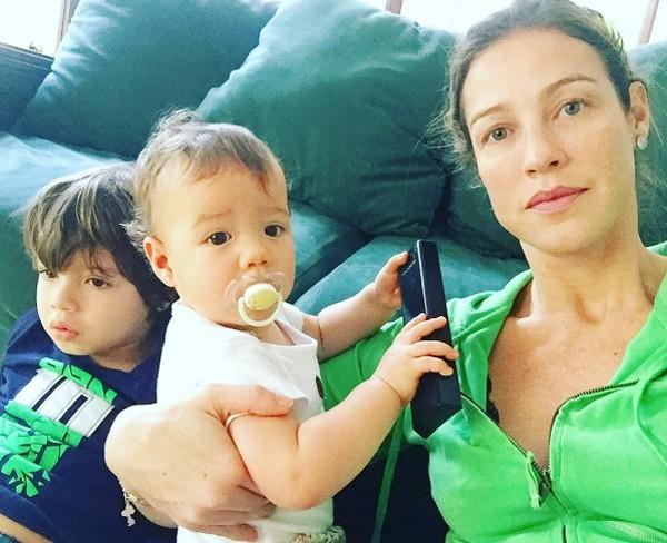 Luana Piovani e os gêmeos (Foto: Reprodução / Instagram)