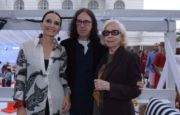 Andrea Natal, Geraldo Carneiro e Fernanda Montenegro (Foto: Selmy Yassuda)