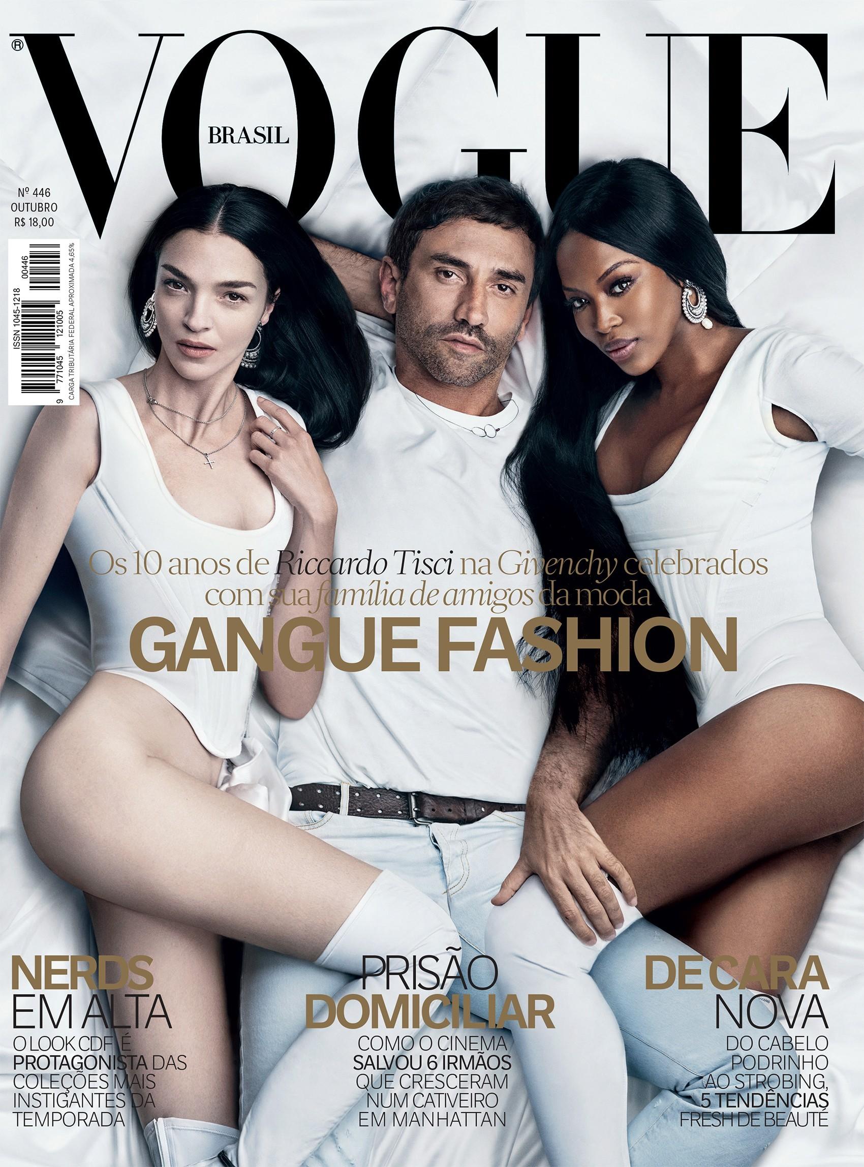 Riccardo Tisci na capa da Vogue de outubro de 2015 (Foto: Arquivo Vogue)