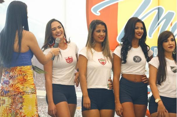 Daniela Calheiros, representante CRB, foi a mais votada pela internet e ganhou 1 ponto de vantagem   (Foto: Felipe Brasil)