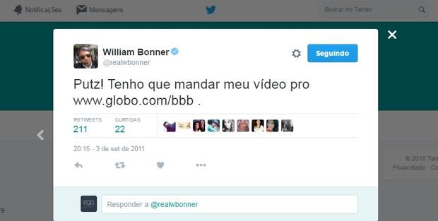 @realwbonner (Foto: Reprodução/Twitter)