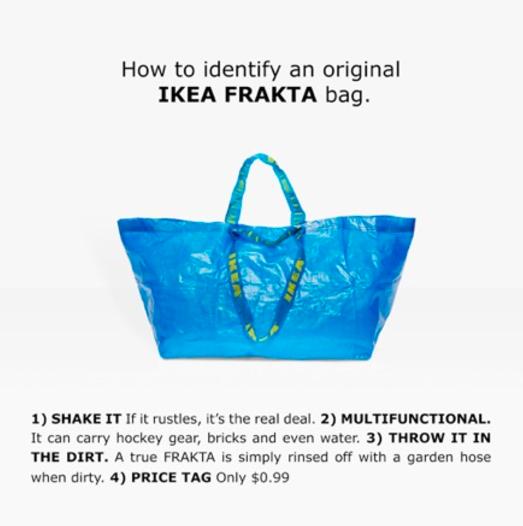 Ikea vs. Balenciaga (Foto: Reprodução)