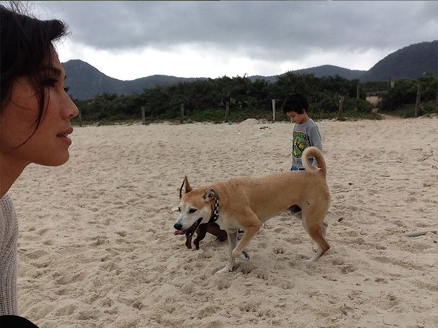 Dani super fofa com o filho Kauai (Foto: Arquivo Pessoal)