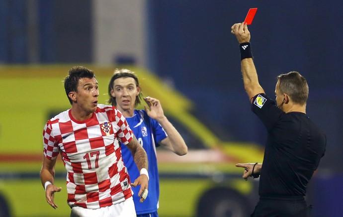 Mandzukic expulso Croácia (Foto: Getty Images)