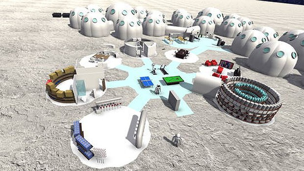 Base terá veículos, fábrica de oxigênio, instalações para impressão em 3D e lançamento de foguetes (Foto: André Carneiro/Facens)