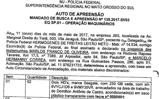 Lista da JBS traz o nome do presidente Temer (Foto: reprodução/ÉPOCA)