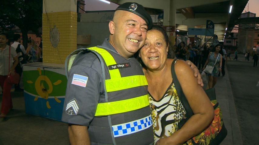 Sargento Vilaça, querido pela comunidade (Foto: Divulgação/ TV Gazeta)