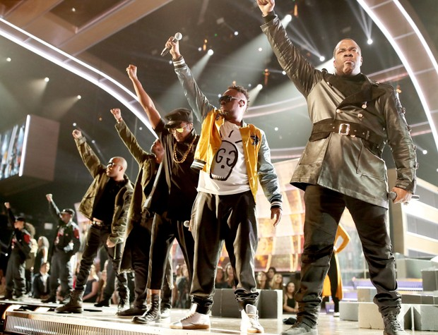 A Tribe Called Quest com convidados no Grammy (Foto: Christopher Polk / GETTY IMAGES NORTH AMERICA / AFP)