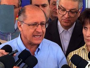 Governador de São Paulo Geraldo Alckmin em visita a Campinas (SP) (Foto: Jackson Amorim)