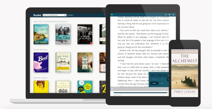 Diferente dos outros apps, o Scribd oferece serviço de assinatura mensal (Foto: Divulgação/ Scribd)